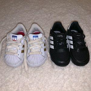 Adidas infant sneaker set, size 5